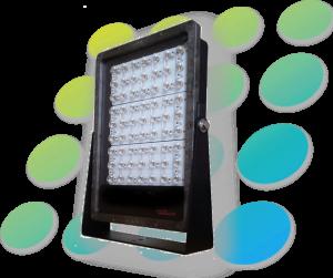 LED flood light BLACK case 50k lm